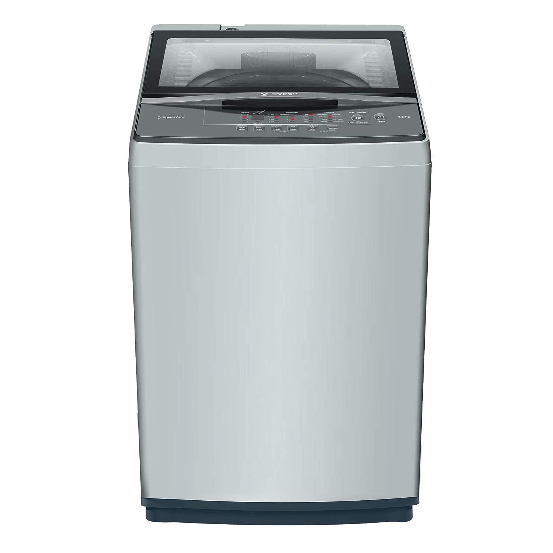 Bosch 6.5 Kg Fully-Automatic Top Loading Washing Machine (WOE654Y0IN grey)