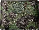 COACH Men's Wild Beast Camo Slim Billfold Military Wild Beast Wallet