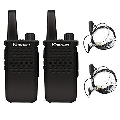 Vineyuan Rechargeable Long Range Two Way Radios 3W UHF 400-470Mhz 1500mAh Walkie Talkies with Earpiece: GPS & Navigation