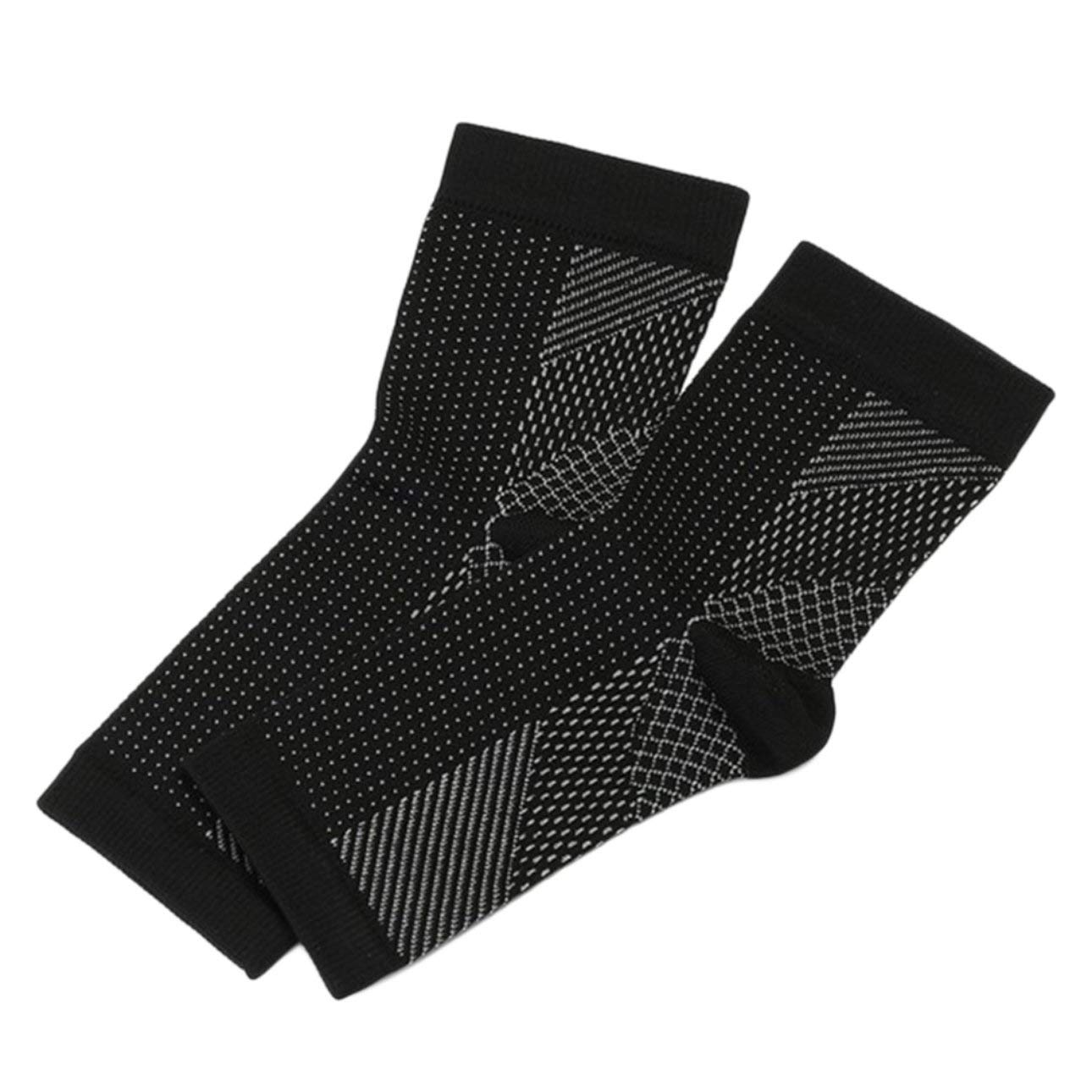 Liobaba Foot Anti-Fatigue Compression Foot Sleeve Exercise Running Basketball Anti-Fatigue Ankle Brace with Arch Support Pain Relief from Heel Spurs