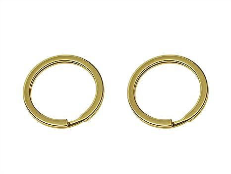 Amazon.com: Shapenty - Juego de 2 llaveros de metal dorado ...