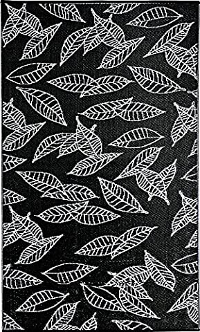 b.b.begonia Arctic One RV/Camping/Patio Mat Reversible Contemporary Leaf Design Outdoor Area Rug, 8 by 20-Feet, - All Weather Area Rug