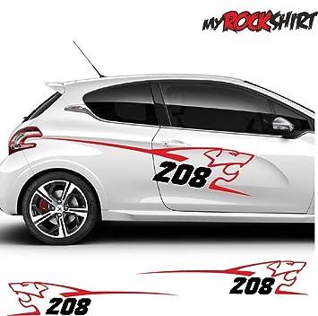 2x Peugeot 208 Löwe Aufkleber Ca 150x30 Cm Aufkleber Mit