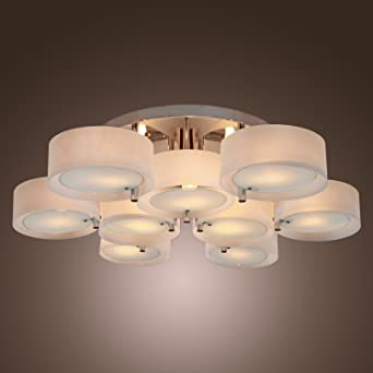 LightInTheBox Acrylic Chandelier With 9 Lights, Flush Mount, Modern Ceiling  Light Fixture (Chrome
