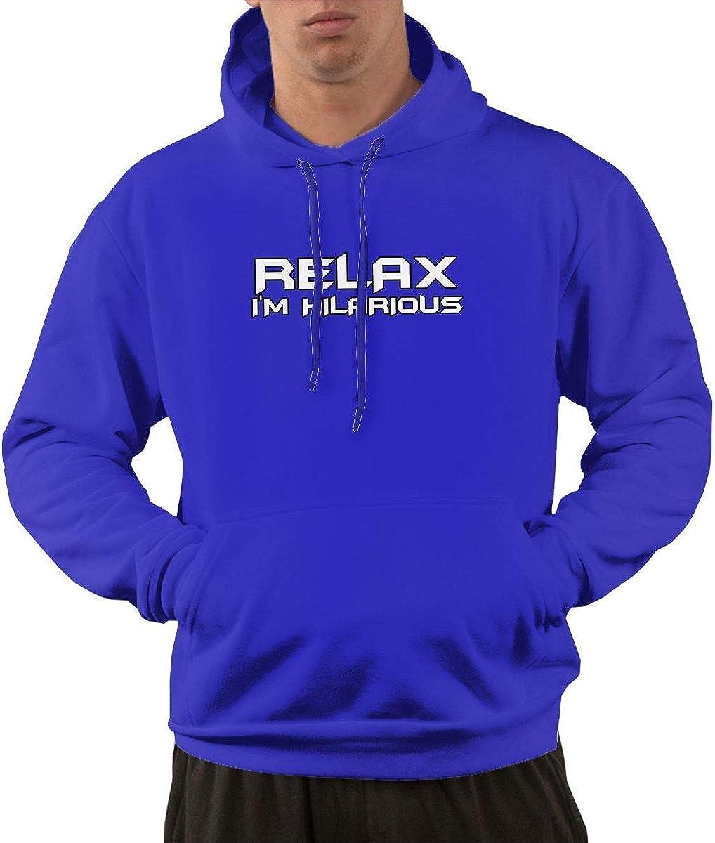 Dayawan Relax Im Hilarious Drawstring Hooded Pullover Men Pocket Hoodie Sweatshirt