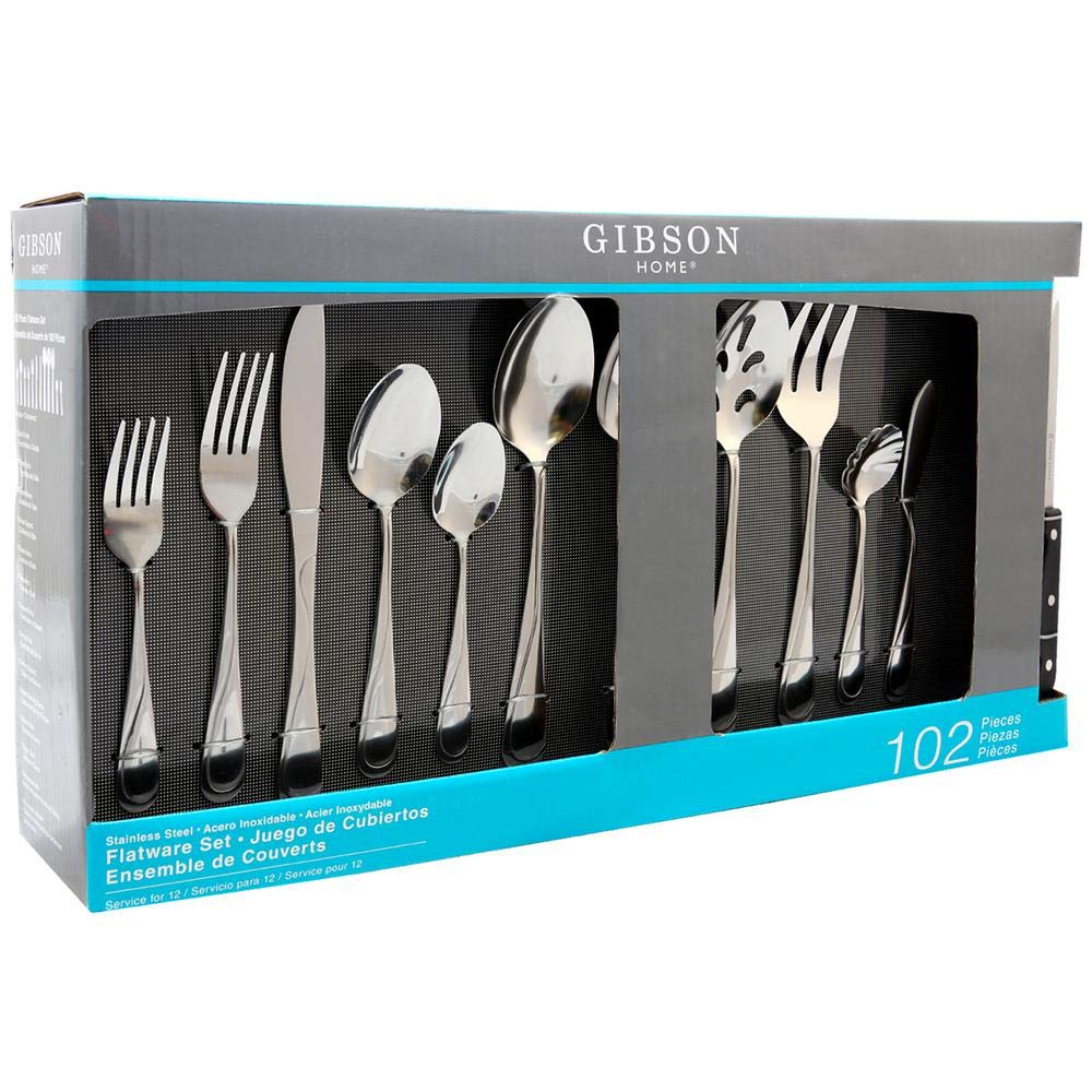 Amazon.com | Brantley 102-Piece Service for 12-Flatware Set: Flatware Sets