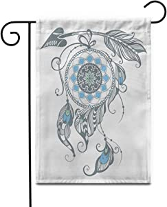 "Awowee 28""x40"" Garden Flag American of Dream Catcher Ancient Apache Arrow Barbarian Beautiful Outdoor Home Decor Double Sided Yard Flags Banner for Patio Lawn"