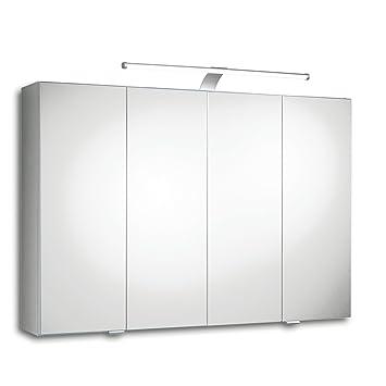 ROLLER Spiegelschrank TRENTO III   weiß   LED: Amazon.de: Küche