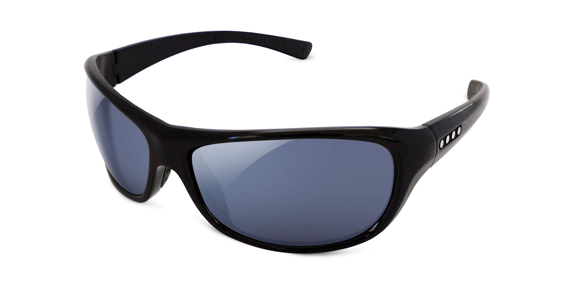 Color Blind Glasses by EnChroma - Monterey Black Wrap - Around Sunglasses - Cx3 Outdoor Lens - Ideal For Deutan, Protan Color Blindness