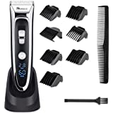 YOHOOLYO SURKER Hair Clippers For Men Hair Trimmer LED Display Haircut Kit Ceramic Blade Rechargeable with AU Plug