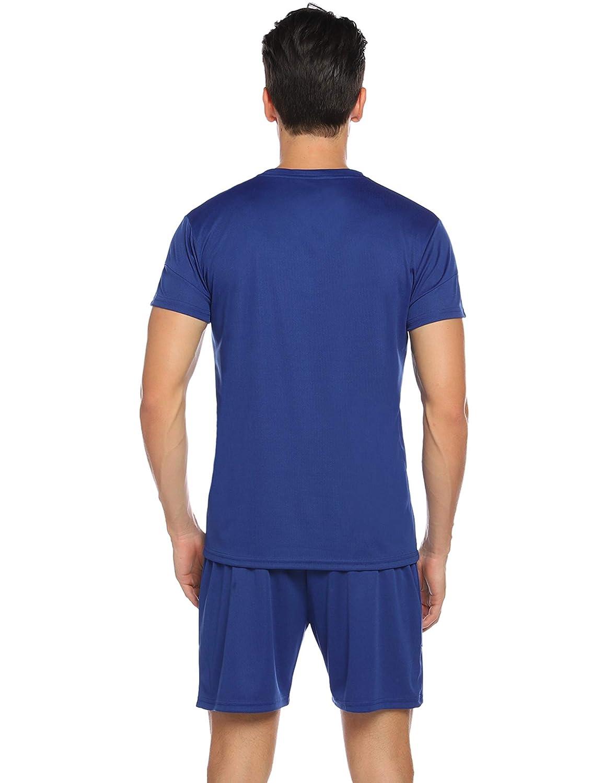Hawiton Conjunto de Ch/ándales para Hombre Chandal Hombre Verano Ropa Deportiva Gym Camisa Mangas Cortas Pantalon Cortos Correr Trotar Caminar