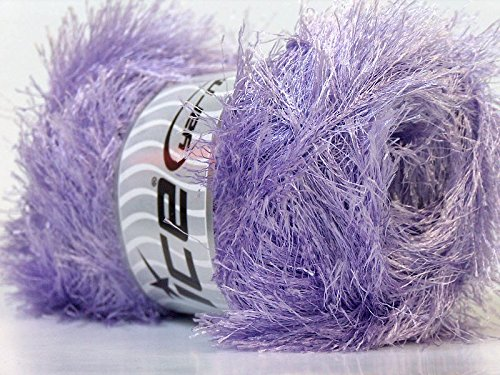 - LG 100 gram Light Lilac Eyelash Yarn Ice Fun Fur