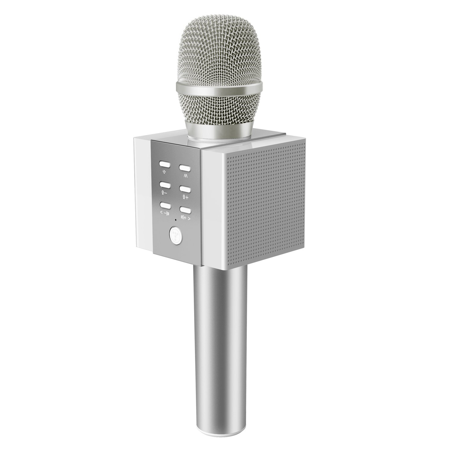 TOSING 008 Wireless Bluetooth Karaoke Microphone,Louder Volume 10W Power, More Bass, 3-in-1 Portable Handheld Double Speaker Mic Machine for iPhone/Android/iPad/PC(Silver) Shenzhen Teana Technology Co. Ltd 008-1