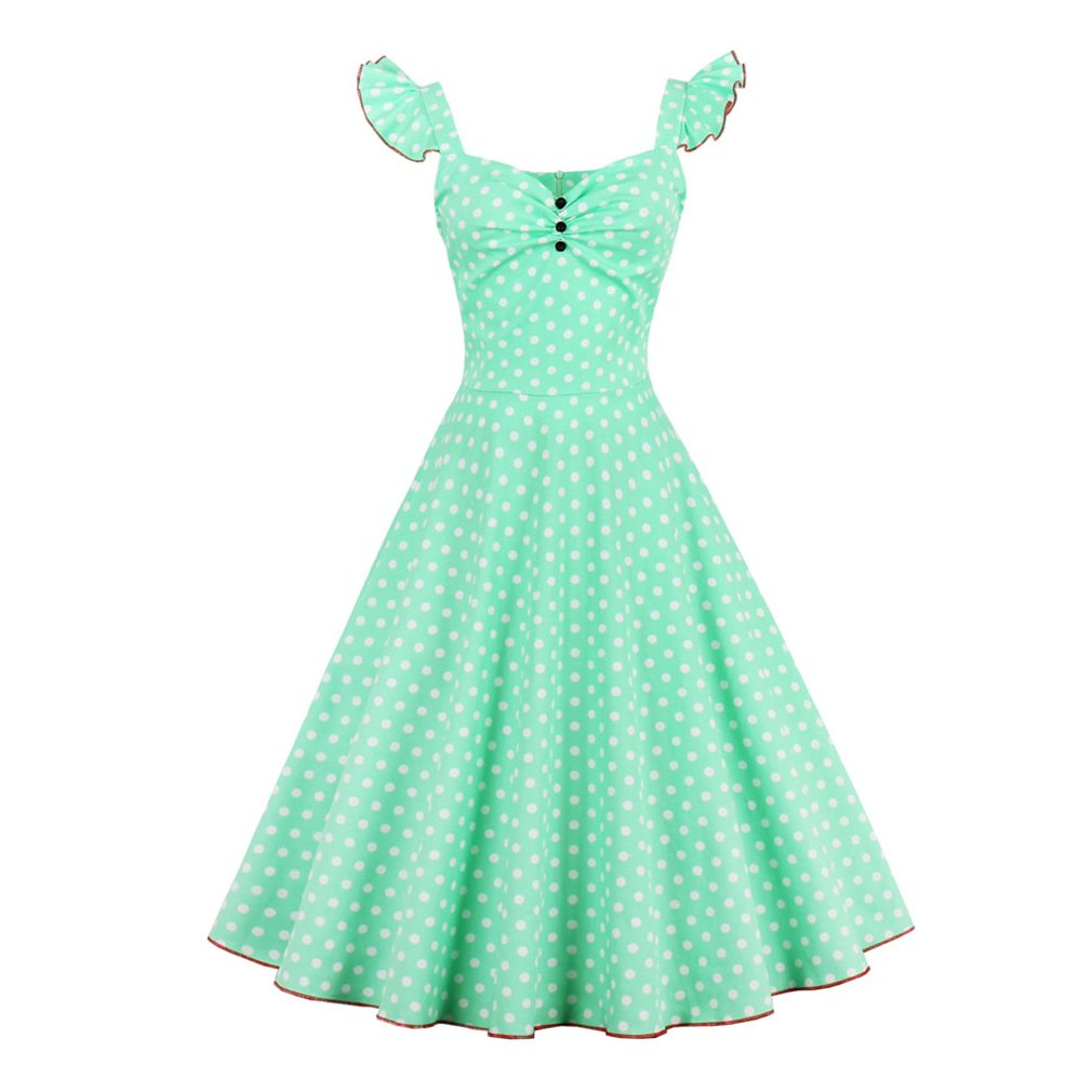 Summer Dress Women Patchwork Vintage Dress With Strap Plus Size Party Casual Dress Feminino Rockabilly Dress Swing Vestidos at Amazon Womens Clothing store ...