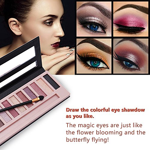 Cosprof 12 Colors Professional Eyeshadow Pallete Face Matte & Shimmer Makeup Eye shadow Palette Nudes Warm Natural Neutral Smoky Cosmetic Eye Shadows (Shimmer)