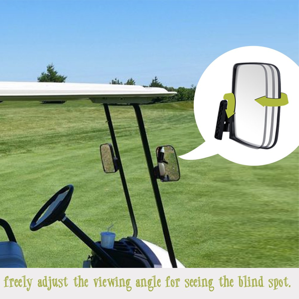 Valchoose Golf Cart Side Mirrors for EZGO Club Car Yamaha, Foldable Golf Cart Accessories by Valchoose (Image #5)