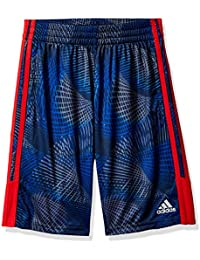Big Boys' Athletic Short, Blue with Red, X-Large