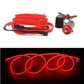 2x1m EL Wire Leuchtschnur EL Kabel mit Zigarettenanzünder ...