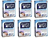 Breathe Right TEjBwW Nasal Strips, Large, Clear, 30 Count Boxes (Pack of 6)