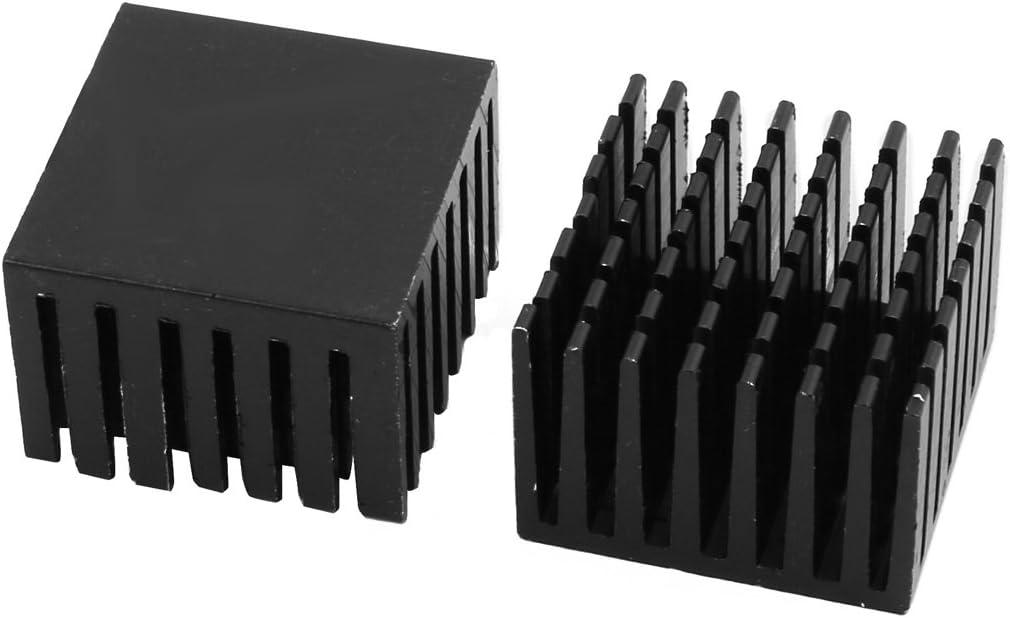 uxcell 4Pcs 28mm x 28mm x 20mm Aluminum Heatsink Heat Diffuse Cooling Fin Black