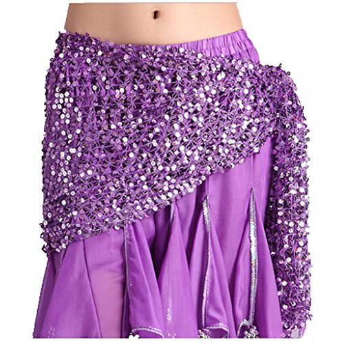 Dance Belly Hip Belle Scarf Glands Costume Violet 1A8Awdq6