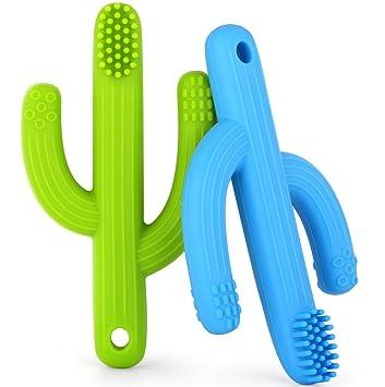 Amazon.com: Bebé cepillo para polvo de dientes Mordedor ...