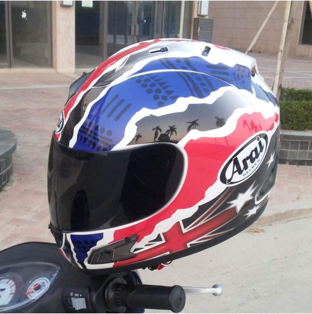Casco De Moto LJPHFF Casco De Moto Casco Completo Casco Arai Casco De Moto Integral Ece Azul Capacete//Unisex