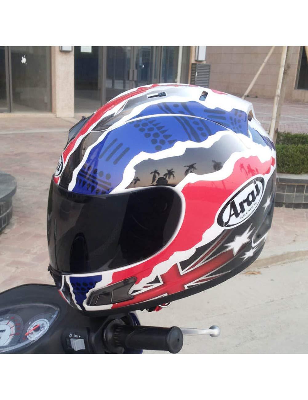 Casco De Moto Capacete//Unisex LJPHFF Casco De Moto Casco Completo Casco Arai Casco De Moto Integral Ece Azul