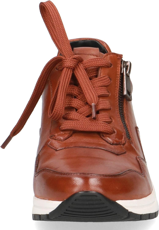 CAPRICE Mujer Zapatos con Cordones, señora Zapatos Deportivos con Cordones Marrón Cognac Soft Na XPNkk