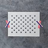 50 Stars Stencil Template - Reusable Stencil of American Flag 50 Stars in Official US Proportions (15.36'' x 10.68'' Actual Dimensions) - Small and Large Sizes Available