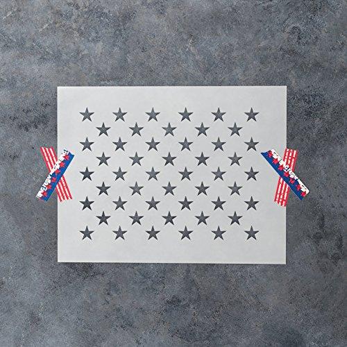 50 Stars Stencil Template Reusable Stencil Of American