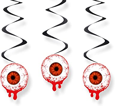 Swirl Dekoration Augapfel Blutiges Auge Ca 60 Cm 3 St Halloween Deko Amazon Co Uk Toys Games