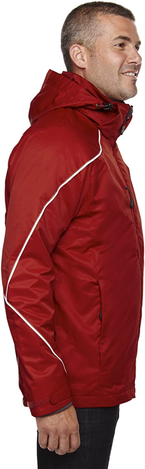 88196 -CLASSIC RED North End Mens 3-In-1 Jacket With Bonded Fleece Liner M