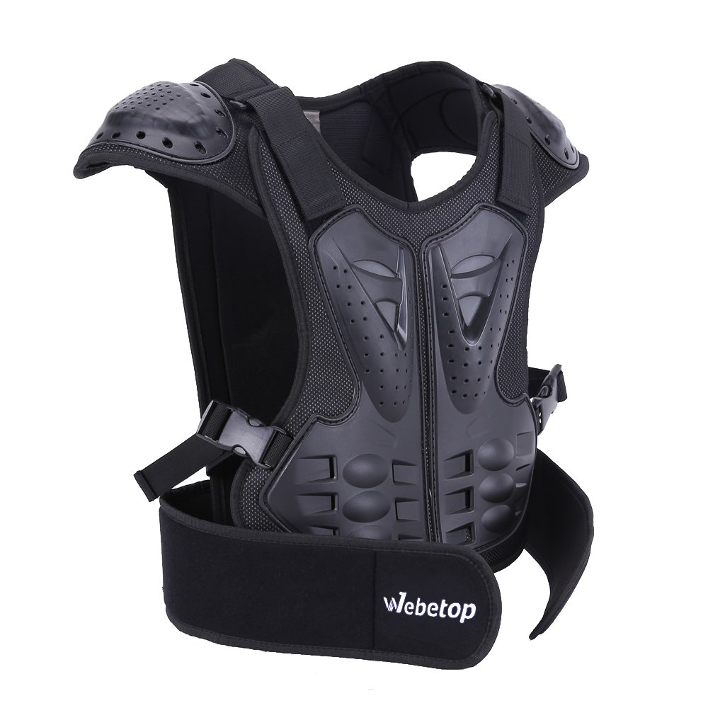 Webetop Kids Dirt Bike Body Chest Spine Protector Vest Protective for Dirtbike L Web3078-3