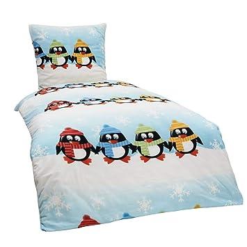Dreamhome24 2 Tlg Kinder Warme Kuschel Fleece Bettwäsche Einhorn