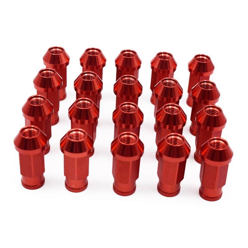 20 St/ück,Red Leichte 7075 Aluminium M12x1.5 Felge Radmutter f/ür 1989-2002 Mercury Cougar Verl/ängerte L/änge Offenes Ende