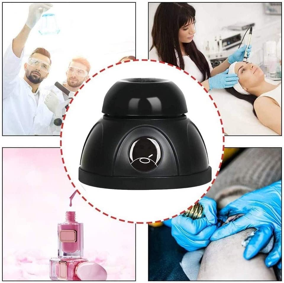 Mini Vortex Agitators Suitable for centrifuge tubes up to 50 ml painters for laboratories Color : Black manicure salons Touch Mode Paint Mixer 4000 rpm tattoo artists and amateurs