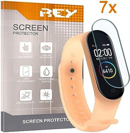 REY 7X Protector de Pantalla para XIAOMI MI Smart Band 4: Amazon.es: Electrónica