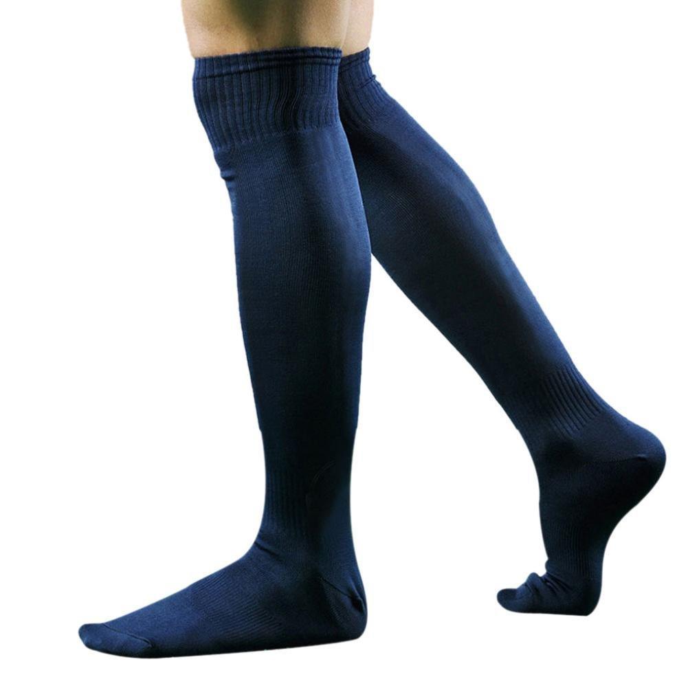 PolytreeメンズSport Football Soccerロングソックスover knee high sock野球Hockey B01H57322Iディープブルー