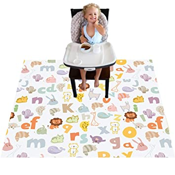 Baby Splat Mat for Under High Chair High Chair Floor Mat Splash Mat