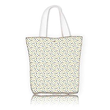 fd61a4a2155c Amazon.com: Ladies canvas tote bag -W15 x H14 x D4.7 INCH/Shopping ...