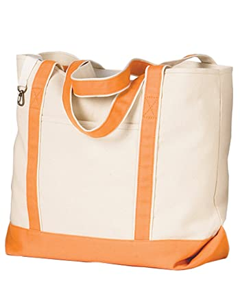 16 oz. Beach Tote~Natural/Orange