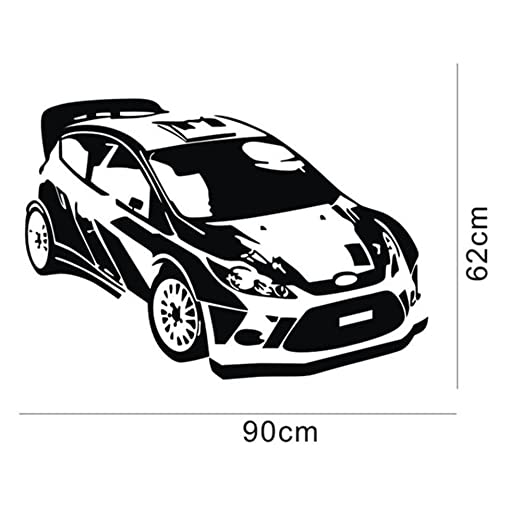 Amazon Com 23 6 X 37 4 Black Checkered Racing Car Vinyl Wall