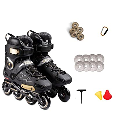 AIAIⓇ Skates Adult Inline Fancy Professional Flat Flower ice Skating Flashing Roller Skates: Home & Kitchen