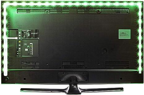 Tira de luces LED de bies, 24 teclas remotas 5 V USB tiras de luz flexible