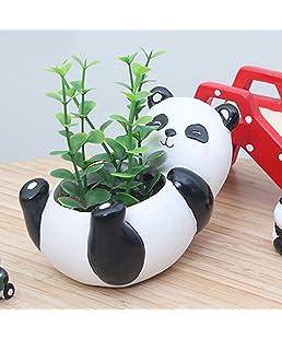 Artbro Panda Künstliche Sukkulenten Pflanzen Töpfe Harz Mini Blumentopf Gartenpflanzen Vase Schreibtisch Blume Dekoration (Panda)