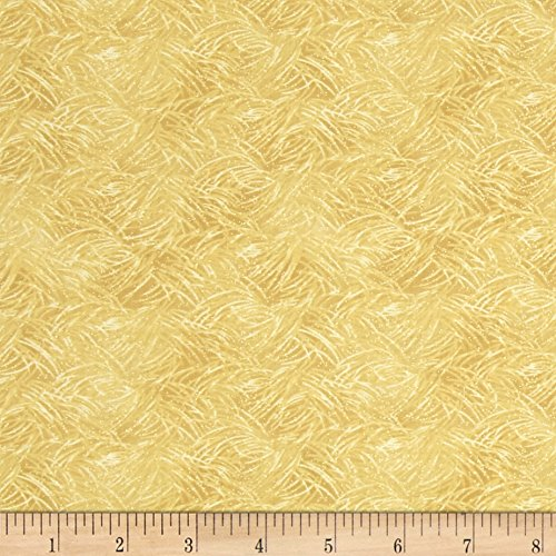 Bear Paws Grass Natural Fabric By The Yard
