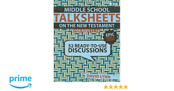 Workbook bible worksheets for middle school : Middle School TalkSheets on the New Testament, Epic Bible Stories ...