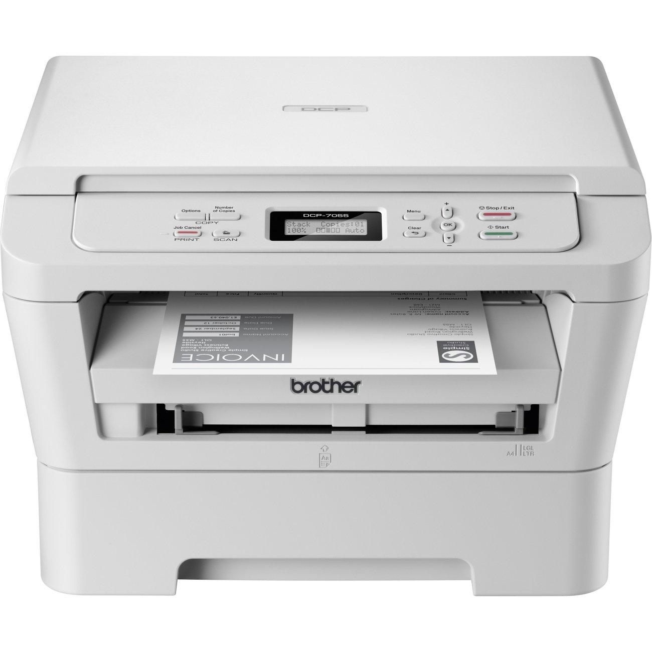 Brother DCP7055G1 - Impresora multifunción láser, blanco: Amazon ...