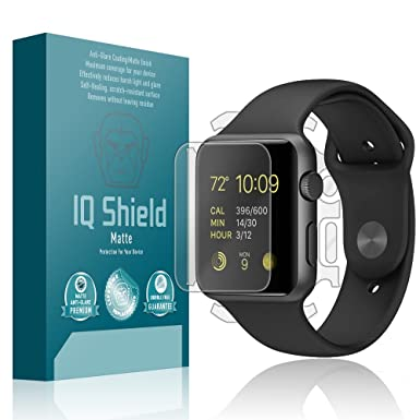 Apple Watch 42 mm Protector de pantalla, IQ escudo mate antirreflejos de cobertura total cuerpo